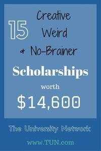Be who you are and do what you're good at, and win scholarship money while doing so!