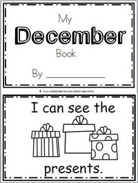 Free December Book for Kindergarten Practice reading the words �€œI can see the�€��€ There are 10 pages in this December mini book. You can print and use all the pages or just the one�€�