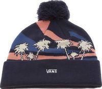 Vans Navy Annexed Beanie Caps And Hats Brighten up those dull winter days with a splash of colour from the Vans Annexed Beanie. Arriving in navy, a jacquard woven pattern of palm trees in cream, with pink and blue accents, finishes the bob http://www.comp...