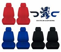 Two Front Seat Covers Solid Colors Fits Honda CR-V Side Airbag Friendly $69.99