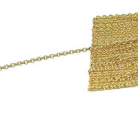 1.50mm French Chain, 18K Rose Solid gold Strong Pendant chain ,Classic Chain ,Dainty Gold Chain $590.00