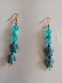 Turtle beaded earrings £5.00