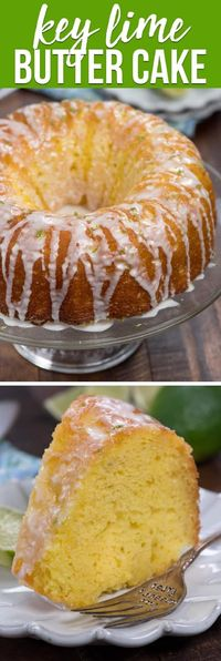 An EASY Key Lime Butter Cake is a cake that explodes with lime flavor. The cake is soaked with lime syrup and the whole thing is topped with key lime drizzle - this cake screams key lime dessert! via