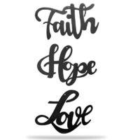 Love + Faith + Hope - Collection Metal Wall Decor $42.95 �œ�Handcrafted in the USA! �œ�