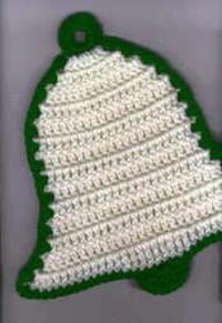 New Year Bell Potholder - free crochet pattern