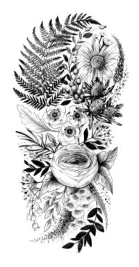 I love the ranunculus and the fern leaf A selection of tattoo sketches I am now apprenticing under the amazing talent at Atelier Four Tattoo Studio based in Cornwall. It is my dream to be able to give someone a permanent piece of my artwork, and i am incr...