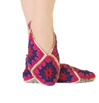 Hygge knitted slippers, as wool Christmas gift for sister. Granny square. Ankle warmers. Slippers size 9 10 11 $35.00