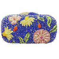 Luxury Women Sparkly Floral Evening Clutch Bag
