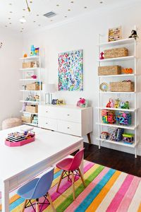 Children's playroom | striped pastel rug