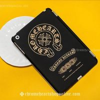 iPad Mini Chrome Hearts Case with Gold Horseshoe and Cross Black