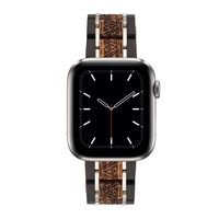 Ebony & Zebra Wooden Band for Apple Watch iWatch Series 5, 4, 3, 2, 1 $70.00