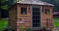 A cute place for a studio, guest cottage or potting shed. Love it! http://www.houzz.com/photos/145669/potting-shed-traditional-landscape-other-metros