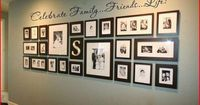 Have a large wall with lots of family photos? This is a great way to display with looking to cluttered! Add Uppercase Lettering for the perfect touch!