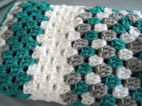 grey and teal baby nursery | baby blanket afghan granny square boys girls teal white grey crib ...