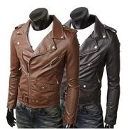 Men's PU leather biker jacket Clearance! $19.95