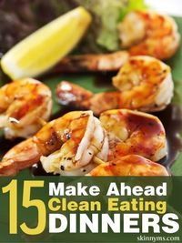 Finding the best clean eating dinner menus does not need to be difficult. These 15 make ahead clean-eating dinners are great for getting you through more than t