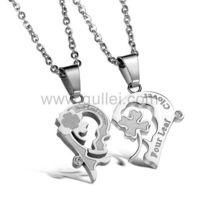 Clover Heart Engraved Matching Relationship Pendants Set for 2 https://www.gullei.com/engraved-clover-heart-matching-titanium-pendants-set-for-2.html