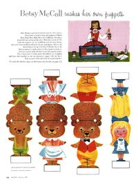 Bets McCall Paper Doll Printable - makes her own puppets, three little bears