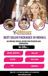 Melt stress and worry away at Skizzars. Browse our selection of luxurious professional salon packages in Mohali. Your hair is an important reflection of yourself. Let our professional stylists and technicians pamper you and enhance your hair to show the w...