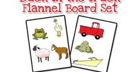 A printable flannel board or story board set for the book, Duck in the Truck, by Jez Alborough. Great for retelling a story with Pre-K, Preschool, and Kindergar