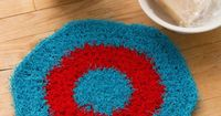 Hexagon Crochet Dishcloth Free Pattern in Red Heart Yarns