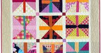 Scrap Block by Pam Rocco in Quilters Newsletter August/September 2015. Free pattern and tutorial