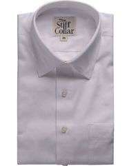 White Herringbone 2 Ply Cotton French Cuff Shirt �'�1999.00