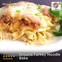 """Ground Turkey Noodle Bake 