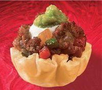 "Beef Fajitas | Athens Foods Mini FILO shells info per 2: Calories 30, Total Carbohydrates �€"" 4g"
