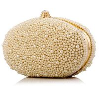 2017 Women Pearl Evening Bag Luxury Beaded Day Clutch