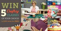 """If you enter one #giveaway, it should be this one! Create a wishlist of 5 or more quilting Craftsy classes you want to try by visiting Craftsy's site and clicking the """"wishlist"""" button on any Craftsy class page. You'll be automatically e..."""