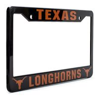 Texas Longhorns License Plate Frame Cover - Black - NCAA Car Accessory - Slim Design $19.99