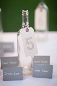 great and creative way to display the table numbers.