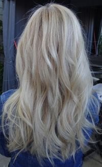 blonde hair color shades and love the natural slight curls...cant wait until my hair is long enough for this look again!