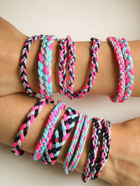Friendship bracelet ideas - using thick Chinese knotting cord