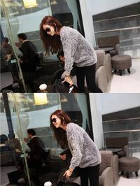 Mohair O-Neck Pullover Long Sleeve Loose Casual Sweater $19.99