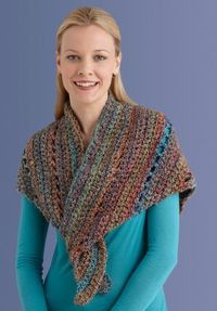 Free+Crochet+Pattern+Lion+Brand | interested in crocheting your first shawl this easy pattern will