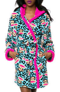 Paul Frank The Paul Frank Sweet & Cozy Plush Robe in Turquoise