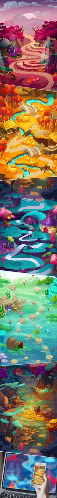 Maps for Match 3 game on Behance