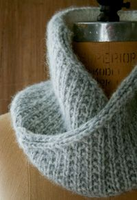 Knitted Shawl Collar Cowl: free pattern