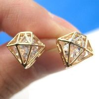 Alloy pendant Artificial diamond 3g/double 1.3cm*1.1cm fashion and lovely