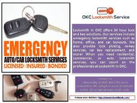 When it comes to commercial locksmith services, we will take complete care of your business. Lock repair, lock change and install. Master key, high security locks, we can do. Call us today at (405) 445-0751  To know more click on link: https://w...