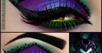 Exotic Maleficent Eyes! Gorgeous makeup