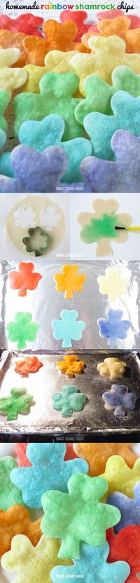 How to make Homemade Rainbow Shamrock Chips. Crispy, crunchy, salty, and irresistible!