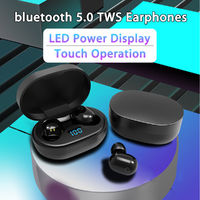 Mini bluetooth 5.0 Wireless Stereo Sports Earphone Waterproof With Digital Display Charging Box