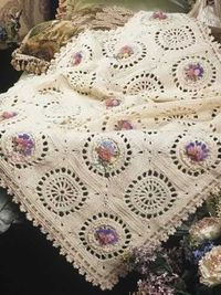 Nosegays afghan pattern - lovely ~ free pattern �›�