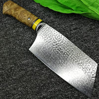 Handmade Chinese Cleaver Chef Knife Kitchen Knives Butcher Slicing Tools $208.50
