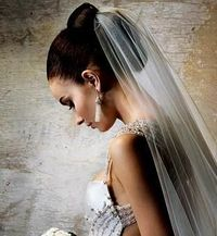 Undecided about wearing a veil. If I do I want something that is just in the back sort of like this...