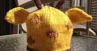 Giraffe Hat Pattern... i totally think i could make it by crocheting