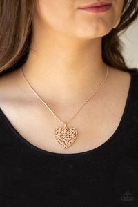 Paparazzi Look into your heart-rose gold $5.00